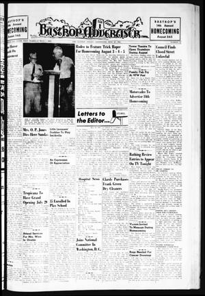 Primary view of object titled 'Bastrop Advertiser (Bastrop, Tex.), Vol. 109, No. 22, Ed. 1 Thursday, July 27, 1961'.