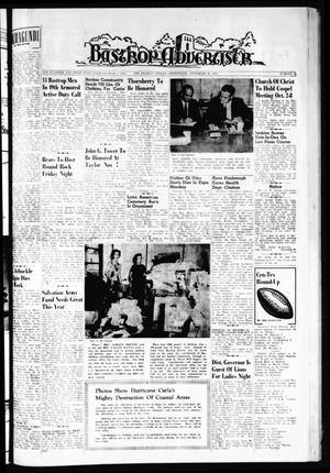 Primary view of object titled 'Bastrop Advertiser (Bastrop, Tex.), Vol. 109, No. 31, Ed. 1 Thursday, September 28, 1961'.