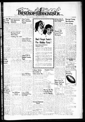 Primary view of object titled 'Bastrop Advertiser (Bastrop, Tex.), Vol. 109, No. 36, Ed. 1 Thursday, November 2, 1961'.