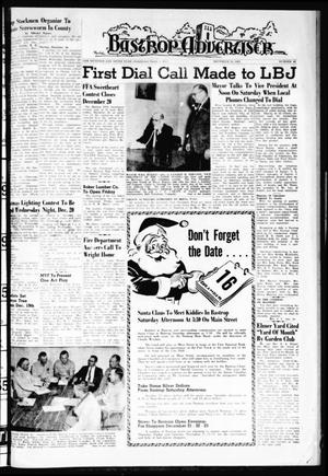 Primary view of object titled 'Bastrop Advertiser (Bastrop, Tex.), Vol. 109, No. 42, Ed. 1 Thursday, December 14, 1961'.