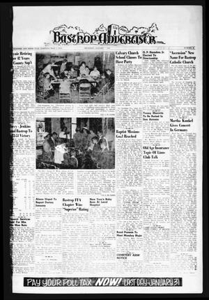 Primary view of object titled 'Bastrop Advertiser (Bastrop, Tex.), Vol. 109, No. 45, Ed. 1 Thursday, January 4, 1962'.