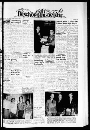 Primary view of object titled 'Bastrop Advertiser (Bastrop, Tex.), Vol. 110, No. 13, Ed. 1 Thursday, May 24, 1962'.