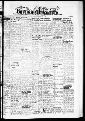 Primary view of object titled 'Bastrop Advertiser (Bastrop, Tex.), Vol. 110, No. 19, Ed. 1 Thursday, July 5, 1962'.