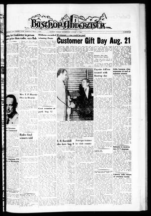 Primary view of object titled 'Bastrop Advertiser (Bastrop, Tex.), Vol. 110, No. 25, Ed. 1 Thursday, August 16, 1962'.