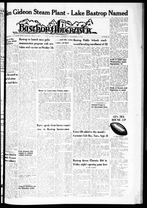 Primary view of object titled 'Bastrop Advertiser (Bastrop, Tex.), Vol. 110, No. 29, Ed. 1 Thursday, September 13, 1962'.