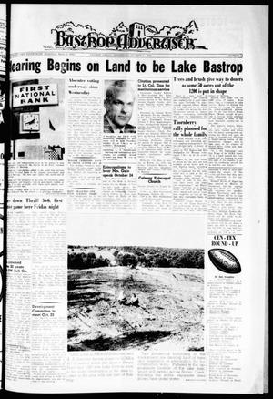 Primary view of object titled 'Bastrop Advertiser (Bastrop, Tex.), Vol. 110, No. 34, Ed. 1 Thursday, October 18, 1962'.