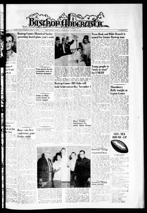 Primary view of object titled 'Bastrop Advertiser (Bastrop, Tex.), Vol. 110, No. 35, Ed. 1 Thursday, October 25, 1962'.