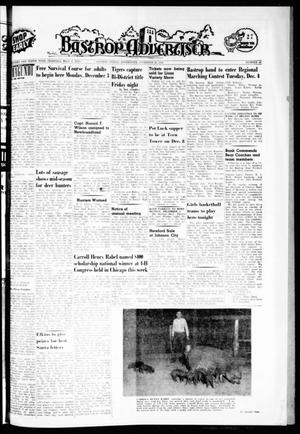 Primary view of object titled 'Bastrop Advertiser (Bastrop, Tex.), Vol. 110, No. 40, Ed. 1 Thursday, November 29, 1962'.