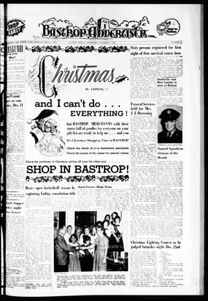 Primary view of object titled 'Bastrop Advertiser (Bastrop, Tex.), Vol. 110, No. 41, Ed. 1 Thursday, December 6, 1962'.