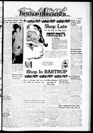 Primary view of object titled 'Bastrop Advertiser (Bastrop, Tex.), Vol. 110, No. 42, Ed. 1 Thursday, December 13, 1962'.