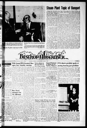 Primary view of object titled 'Bastrop Advertiser (Bastrop, Tex.), Vol. 111, No. 1, Ed. 1 Thursday, March 7, 1963'.