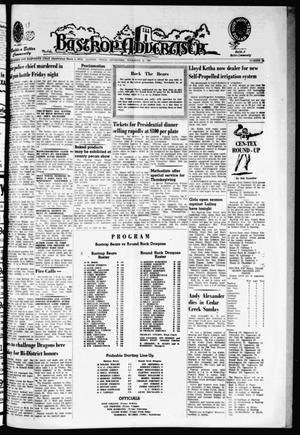 Primary view of object titled 'Bastrop Advertiser (Bastrop, Tex.), Vol. 111, No. 38, Ed. 1 Thursday, November 21, 1963'.