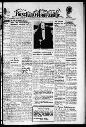 Primary view of object titled 'Bastrop Advertiser (Bastrop, Tex.), Vol. 111, No. 40, Ed. 1 Thursday, December 5, 1963'.
