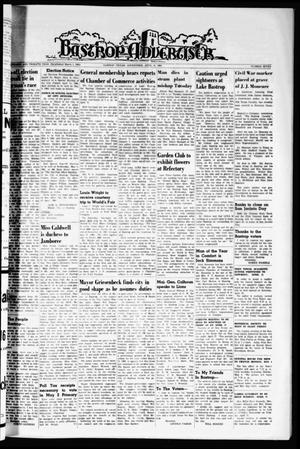 Primary view of object titled 'Bastrop Advertiser (Bastrop, Tex.), Vol. 112, No. 7, Ed. 1 Thursday, April 16, 1964'.