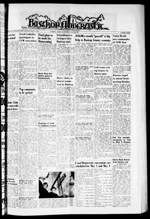 Primary view of object titled 'Bastrop Advertiser (Bastrop, Tex.), Vol. 112, No. 8, Ed. 1 Thursday, April 23, 1964'.