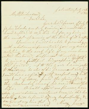 Letter to W. Richardson, 13 July 1858