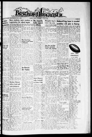 Primary view of object titled 'Bastrop Advertiser (Bastrop, Tex.), Vol. 112, No. 26, Ed. 1 Thursday, August 27, 1964'.