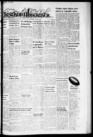 Primary view of object titled 'Bastrop Advertiser (Bastrop, Tex.), Vol. 112, No. 31, Ed. 1 Thursday, October 1, 1964'.
