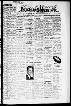 Primary view of object titled 'Bastrop Advertiser (Bastrop, Tex.), Vol. 112, No. 32, Ed. 1 Thursday, October 8, 1964'.