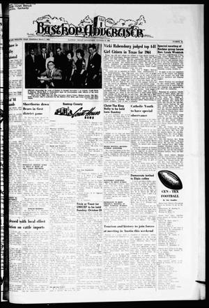 Primary view of object titled 'Bastrop Advertiser (Bastrop, Tex.), Vol. 112, No. 34, Ed. 1 Thursday, October 22, 1964'.