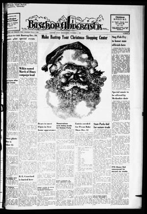 Primary view of object titled 'Bastrop Advertiser (Bastrop, Tex.), Vol. 112, No. 40, Ed. 1 Thursday, December 3, 1964'.
