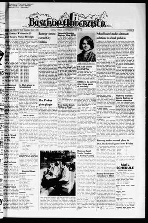 Primary view of object titled 'Bastrop Advertiser (Bastrop, Tex.), Vol. 112, No. 48, Ed. 1 Thursday, January 28, 1965'.