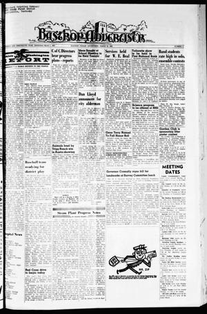 Primary view of object titled 'Bastrop Advertiser (Bastrop, Tex.), Vol. 113, No. 4, Ed. 1 Thursday, March 25, 1965'.