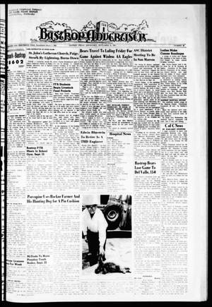 Primary view of object titled 'Bastrop Advertiser (Bastrop, Tex.), Vol. 113, No. 30, Ed. 1 Thursday, September 23, 1965'.