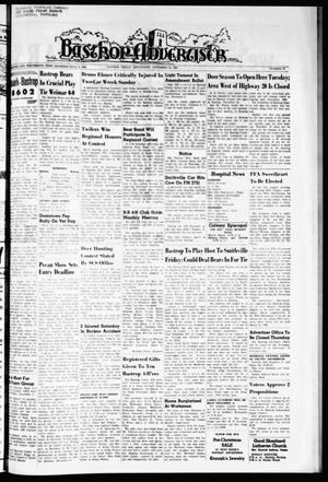 Primary view of object titled 'Bastrop Advertiser (Bastrop, Tex.), Vol. 113, No. 37, Ed. 1 Thursday, November 11, 1965'.