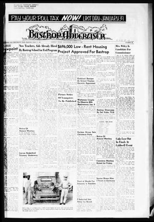 Primary view of object titled 'Bastrop Advertiser (Bastrop, Tex.), Vol. 113, No. 45, Ed. 1 Thursday, January 6, 1966'.