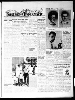 Primary view of object titled 'Bastrop Advertiser (Bastrop, Tex.), Vol. [115], No. 12, Ed. 1 Thursday, May 23, 1968'.