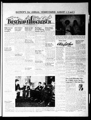 Primary view of object titled 'Bastrop Advertiser (Bastrop, Tex.), Vol. [115], No. 16, Ed. 1 Thursday, June 20, 1968'.