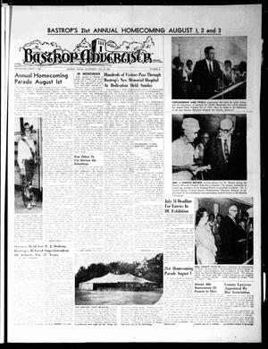 Primary view of object titled 'Bastrop Advertiser (Bastrop, Tex.), Vol. [115], No. 21, Ed. 1 Thursday, July 25, 1968'.