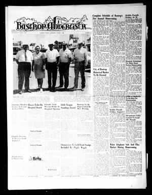 Primary view of object titled 'Bastrop Advertiser (Bastrop, Tex.), Vol. [115], No. 22, Ed. 1 Thursday, August 1, 1968'.