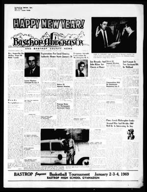 Primary view of object titled 'Bastrop Advertiser and Bastrop County News (Bastrop, Tex.), Vol. [115], No. 44, Ed. 1 Thursday, January 2, 1969'.
