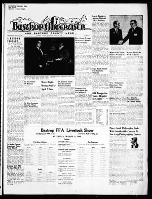 Primary view of object titled 'Bastrop Advertiser and Bastrop County News (Bastrop, Tex.), Vol. [116], No. 3, Ed. 1 Thursday, March 20, 1969'.