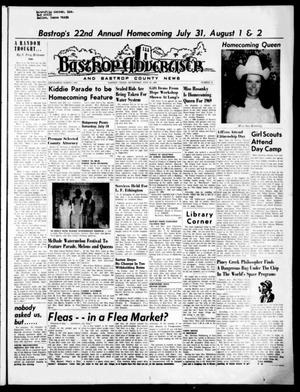 Primary view of object titled 'Bastrop Advertiser and Bastrop County News (Bastrop, Tex.), Vol. [116], No. 19, Ed. 1 Thursday, July 10, 1969'.