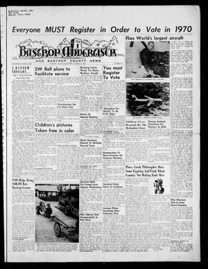 Primary view of object titled 'Bastrop Advertiser and Bastrop County News (Bastrop, Tex.), Vol. [116], No. 46, Ed. 1 Thursday, January 15, 1970'.