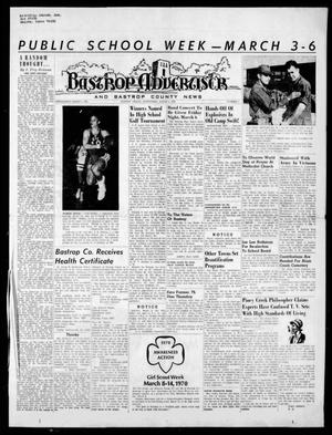 Primary view of object titled 'Bastrop Advertiser and Bastrop County News (Bastrop, Tex.), Vol. [117], No. 1, Ed. 1 Thursday, March 5, 1970'.