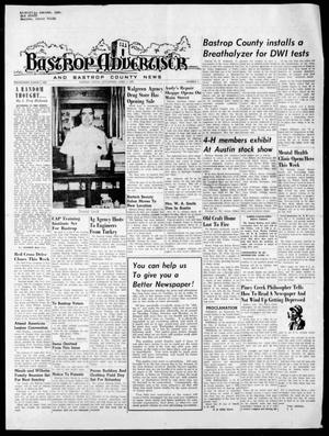 Primary view of object titled 'Bastrop Advertiser and Bastrop County News (Bastrop, Tex.), Vol. [117], No. 5, Ed. 1 Thursday, April 2, 1970'.