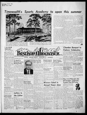 Primary view of object titled 'Bastrop Advertiser and Bastrop County News (Bastrop, Tex.), Vol. [117], No. 8, Ed. 1 Thursday, April 23, 1970'.