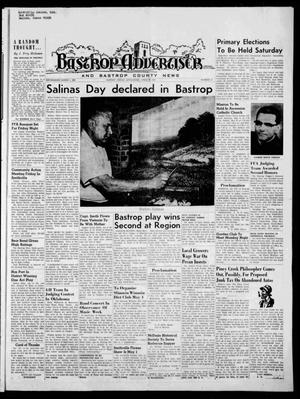 Primary view of object titled 'Bastrop Advertiser and Bastrop County News (Bastrop, Tex.), Vol. [117], No. 9, Ed. 1 Thursday, April 30, 1970'.
