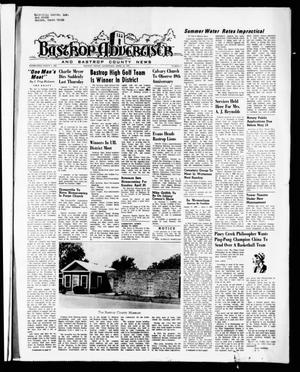 Primary view of object titled 'Bastrop Advertiser and Bastrop County News (Bastrop, Tex.), Vol. [118], No. 8, Ed. 1 Thursday, April 22, 1971'.