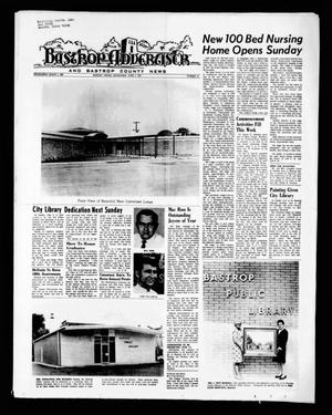 Primary view of object titled 'Bastrop Advertiser and Bastrop County News (Bastrop, Tex.), Vol. [118], No. 14, Ed. 1 Thursday, June 3, 1971'.