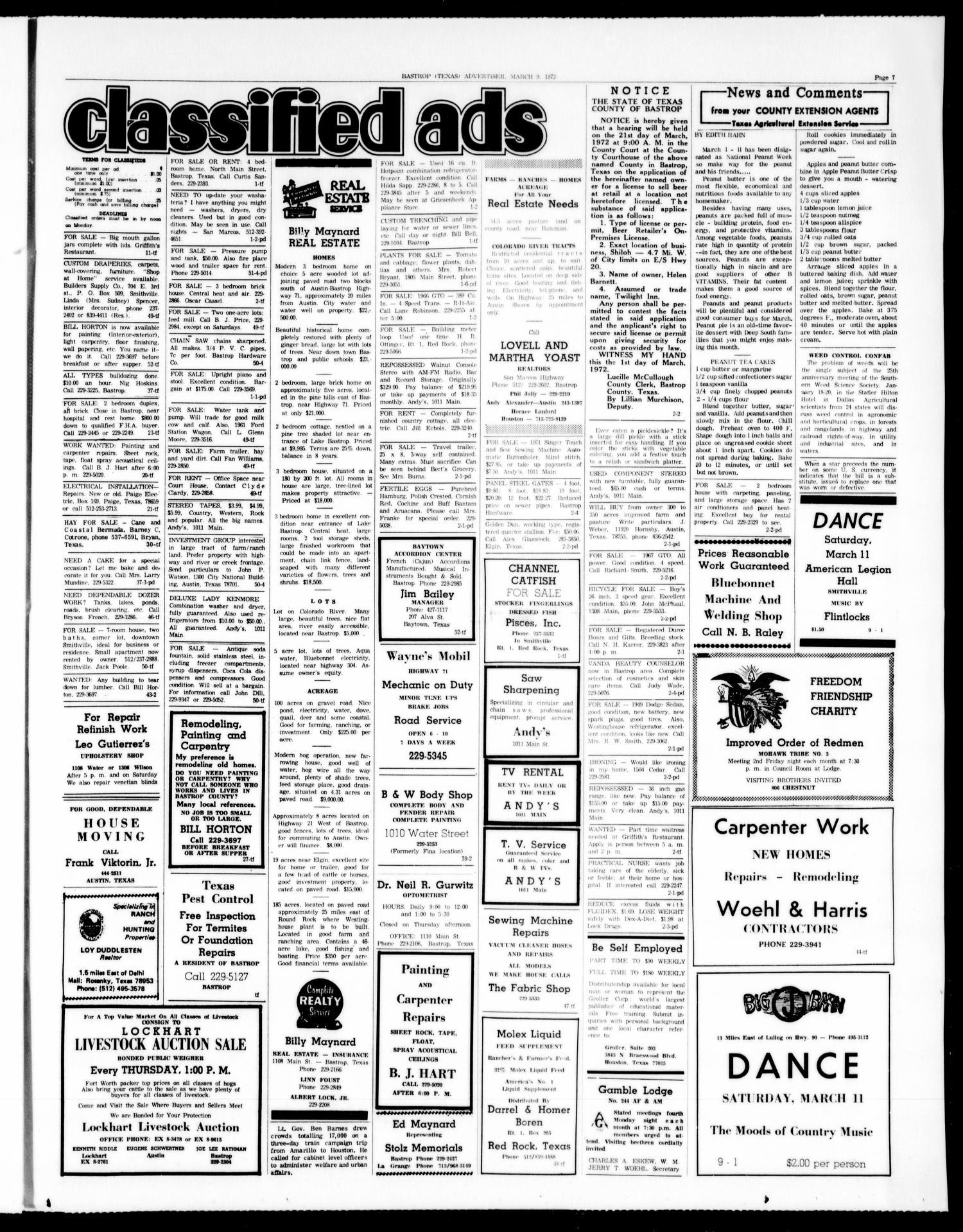 Bastrop Advertiser and Bastrop County News (Bastrop, Tex