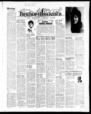 Primary view of object titled 'Bastrop Advertiser and Bastrop County News (Bastrop, Tex.), Vol. [119], No. 5, Ed. 1 Thursday, March 30, 1972'.