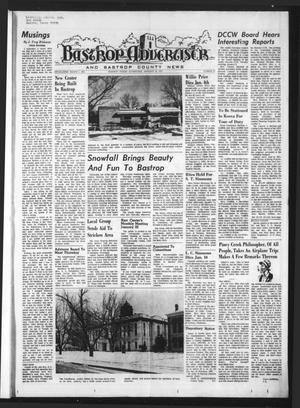 Primary view of object titled 'Bastrop Advertiser and Bastrop County News (Bastrop, Tex.), Vol. [119], No. 47, Ed. 1 Thursday, January 18, 1973'.