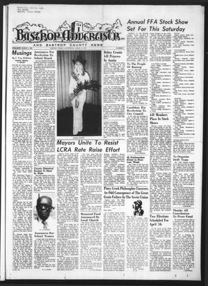 Primary view of object titled 'Bastrop Advertiser and Bastrop County News (Bastrop, Tex.), Vol. [120], No. 3, Ed. 1 Thursday, March 15, 1973'.