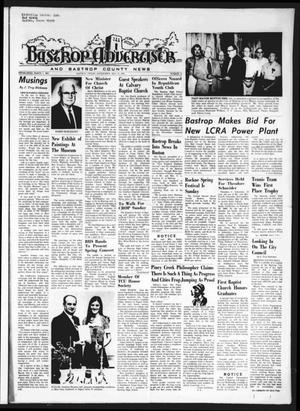 Primary view of object titled 'Bastrop Advertiser and Bastrop County News (Bastrop, Tex.), Vol. [121], No. 12, Ed. 1 Thursday, May 23, 1974'.