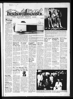Primary view of object titled 'Bastrop Advertiser and Bastrop County News (Bastrop, Tex.), Vol. [121], No. 40, Ed. 1 Thursday, December 5, 1974'.
